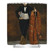 Young Man In The Costume Of A Majo  Shower Curtain