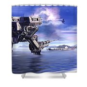 501st Mech Defender Shower Curtain