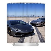 #lamborghini #huracan #print Shower Curtain by ItzKirb Photography