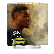 Le'veon Bell.pittsburgh Steelers. Shower Curtain