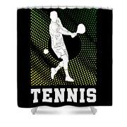 Tennis Player Tennis Racket I Love Tennis Ball Shower Curtain