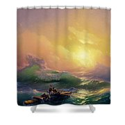 The Ninth Wave Shower Curtain