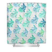 Watercolor Bunnies 1i Shower Curtain