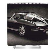 63 Chevrolet Corvette Stingray Shower Curtain