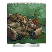 A Crab On Its Back  Shower Curtain