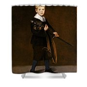 Boy With A Sword  Shower Curtain
