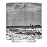 Ruby Beach Sunshine Shower Curtain