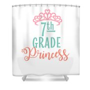 7th Grade Princess Adorable For Daughter Pink Tiara Princess Shower Curtain