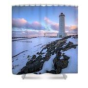 Akranes - Iceland Shower Curtain