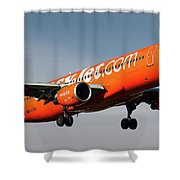 Easyjet 200th Airbus Livery Airbus A320-214 Shower Curtain