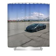#lamborghini #gallardo Lp570-4 #superleggera #edizione #technica #print Shower Curtain by ItzKirb Photography