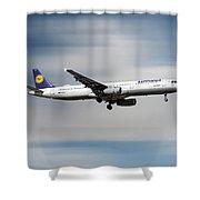 Lufthansa Airbus A321-231 Shower Curtain