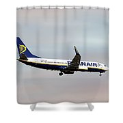 Ryanair Boeing 737-8as Shower Curtain