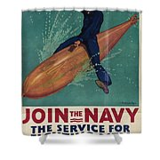 Wartime Propaganda Poster Shower Curtain
