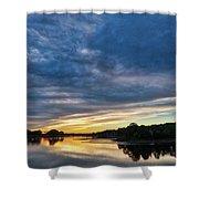 Danvers River Sunset Shower Curtain