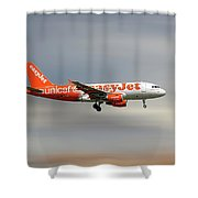 Easyjet Unicef Livery Airbus A319-111 Shower Curtain