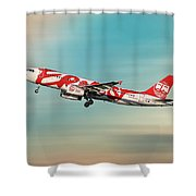 Ernest Airbus A320-233 Shower Curtain
