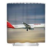 Iberia Airbus A321-212 Shower Curtain