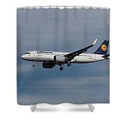 Lufthansa Airbus A320-271n Shower Curtain