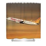 Pegasus Airlines Boeing 737-82r Shower Curtain