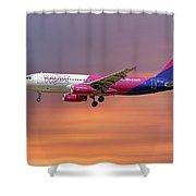 Wizz Air Airbus A320-232 Shower Curtain