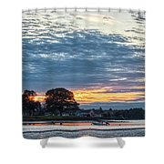 Danvers River Sunset Shower Curtain