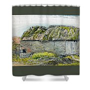 A Barn With A Mossy Roof, Shoreham - Digital Remastered Edition Shower Curtain