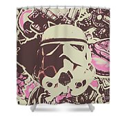 A Battle Storm Shower Curtain