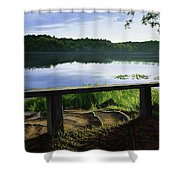 A Bench To Ponder Shower Curtain