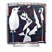 A Bird Hunting Birds 3 Shower Curtain