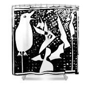 A Bird Hunting Birds 4 Shower Curtain