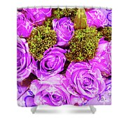 Lv With Lilac Roses  Shower Curtain