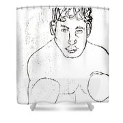 A Boxer Boxing Shower Curtain
