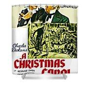 A Christmas Carol Movie Poster 1938 Shower Curtain