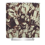 A Classic Christmas Scene Shower Curtain