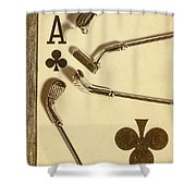 A Classic Round Shower Curtain