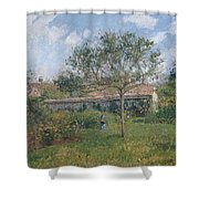 A Corner Of The Meadow At Eragny, 1902 Shower Curtain