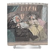 A Counselor's Opinion After He Had Retired From Practice After Thomas Rowlandson British, London 17 Shower Curtain