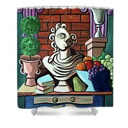 A Cubist Still Life Shower Curtain by Anthony Falbo