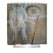 A Dacian Priest At The Sinca Veche Temple Shower Curtain
