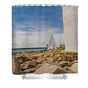 A Different View Goat Island  Shower Curtain