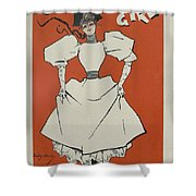 A Gaiety Girl, 1894 French Vintage Poster Shower Curtain