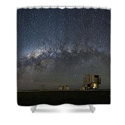 A Galactic View From The Observation Deck Shower Curtain