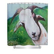 A Goat To Love Shower Curtain