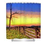 A Gorgeous Blue Ridge Sunrise Ap Shower Curtain