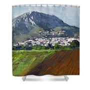 A Greek Village Shower Curtain