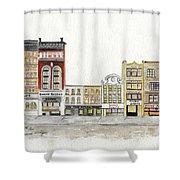 A Greenwich Village Streetscape Shower Curtain