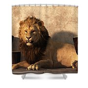 A Lion Among Drums Shower Curtain