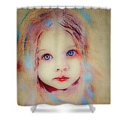 A Little Angel  Shower Curtain