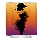 A Little Black Dress In The Sunset Shower Curtain